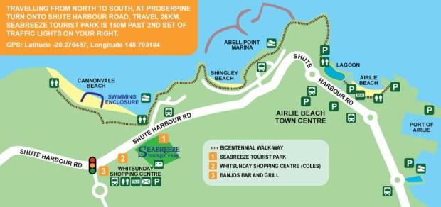 Mapa Airlie Beach