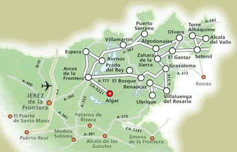 Pueblos-Blancos-Mapa