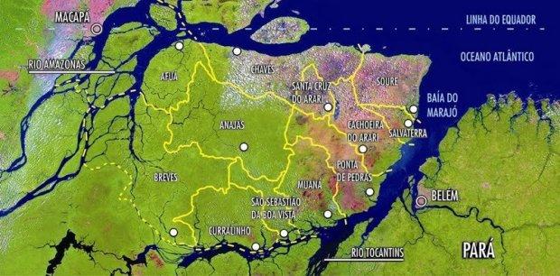 mapa-Arquipélago-de-Marajó